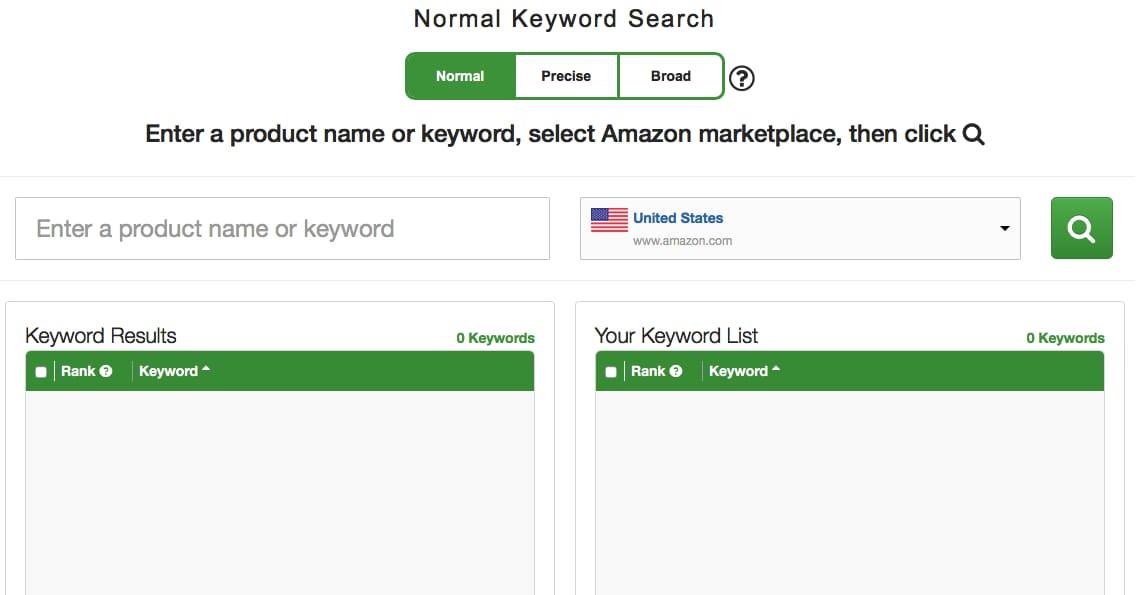 keyword tool for amazon